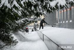 Снег. Тюмень, дворник, снег, уборка снега