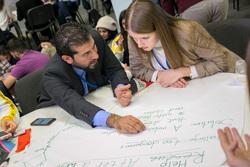 Международный Форум Добровольцев в Москве на ВДНХ. Москва, обсуждение, студенты, мозговой штурм