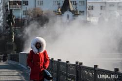 Виды Екатеринбурга, зима, теплая одежда, холод, холодная погода