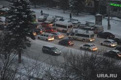 Снегопад. Пробки. Челябинск, затор, пробки, автотранспорт, затрудненное движение