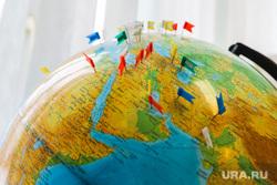 Музей академика Илизарова. Курган, флажки, путешествия, глобус