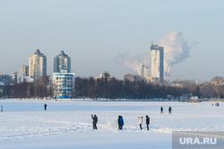 Виды Екатеринбурга, зима, стадион динамо, городской пруд, город екатеринбург