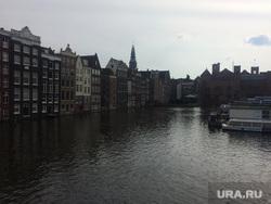 Нидерланды, набережная, река, Амстердам