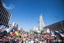 Митинг Либертарианской партии против пенсионной реформы. Москва, протестующие, митинг, протест, проспект академика сахарова, толпа