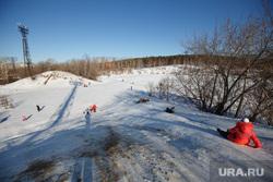 СК «Калининец». Екатеринбург, зимние забавы, катание с горы