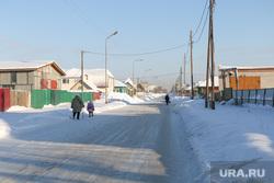 Акция Курганской генерирующей компании Курган, частный сектор, зима, поселок восточный
