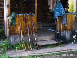 Клипарт. Челябинск., охота, ружье, домик