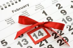 Клипарт depositphotos.com, календарь, день влюбленных, 14 февраля