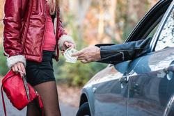 Клипарт depositphotos.com, доллары, проституция, короткая юбка, шлюхи, шлюха, секс за деньги, проститутка
