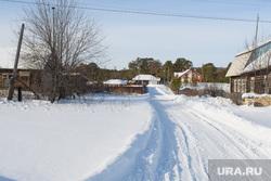 Дом Алексея Кочнева в поселке Кунгурка, Свердловская область, зимняя дорога, деревня кунгурка