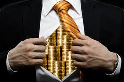Клипарт depositphotos.com , богач, монеты, бизнесмен, финансы, олигарх, деньги, экономика