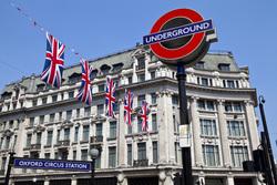 Клипарт depositphotos.com, лондон, флаг великобритании, подземка, underground, лондонское метро