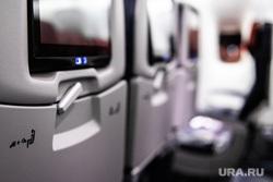 Флагманский самолет Boeing 777-300ER авиакомпании «AZUR air». Екатеринбург, воздушное судно, салон самолета, пассажирский самолет, авиакомпания, самолет, авиаперевозки, откидной столик