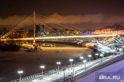 Ночные виды города. Тюмень, зима, город тюмень, мост влюбленных, огни города