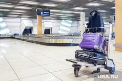 Выдача багажа в Международном аэропорту «Кольцово». Екатеринбург, аэропорт, кольцово, чемоданы, туризм, сумки, путешествия, багажное отделение, розыск багажа, транспортер, утерянный багаж, путешествие, тележка с багажом