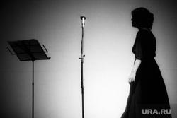 Концерт Веры Полозковой. Театр Эстрады. Екатеринбург, концерт, микрофон, силуэт, тени, поэзия, полозкова вера, поэтесса