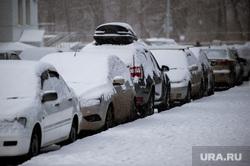 Снегопад в Екатеринбурге, снег, зима, снегопад, автомобили, парковка