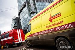 Эвакуация людей из бизнес-центра  «Высоцкий». Екатеринбург, бц высоцкий, скорая помощь