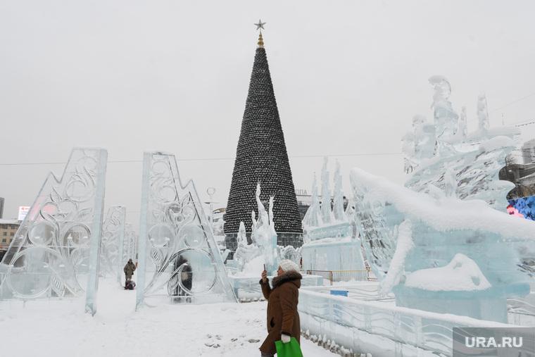 Ледовый городок. Екатеринбург