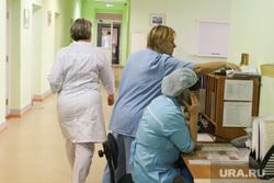 Презентация новой техники в областном онкодиспансере. Курган, пост медсестры, медсестра, приемный покой, пост, коридор больницы, врачи, картотека, врач, больница, мед работник