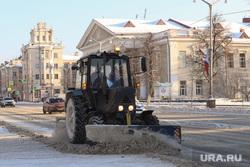 Заседание правительства Курганской области, снегопад, уборка улиц, снег на дороге