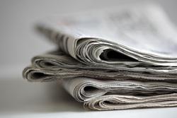 Клипарт depositphotos.com, пресса, дайджест, стопка газет