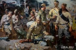Выставка в Манеже «Память поколений». Москва, картина, великая отечественная война, ополченцы, вов, моисеенко евсей