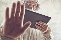 Клипарт depositphotos.com, эпидемия, защитная маска, защитная одежда