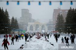 Парк Маяковского (ЦПКиО) зимой. Екатеринбург, парк маяковского, зима, цпкио, отдых