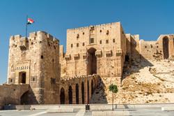 Клипарт depositphotos.com, Сирия, флаг сирии, цитадель алеппо