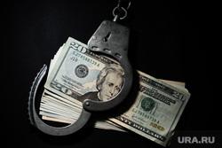 Клипарт. Сургут, взятка, доллары, валюта, наручники, экономическое преступление