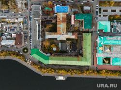 Виды Екатеринбурга, здание, вид сверху, приборостроительный завод