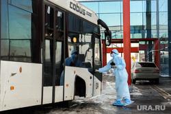 Учения экстренных служб, аэропорта имени Игоря Курчатова. Челябинск, аэропорт, эпидемия, карантин, защитная одежда, коронавирус