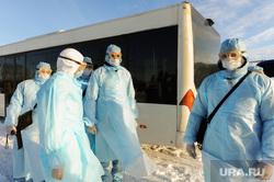 Учения экстренных служб, аэропорта имени Игоря Курчатова. Челябинск, эпидемия, ликвидаторы, карантин, защитная одежда, коронавирус