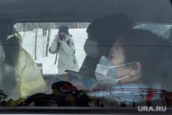Прибытие автобусов с китайскими гражданами в санаторий
