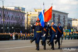 Репетиция торжественного построения войск Челябинского гарнизона. Челябинск, почетный караул