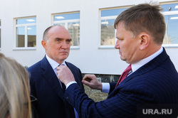 Посещение губернатором Борисом Дубровским площадки строящейся школы в микрорайоне Парковый. Челябинск