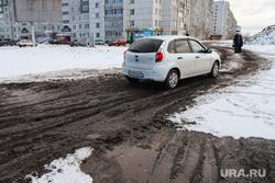 Ремонтные работы на ул. Мальцева. Курган, грунтовая дорога, размытая дорога, ул мальцева