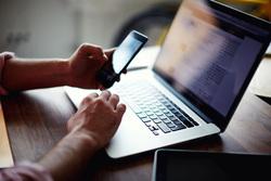 Клипарт depositphotos.com, ноутбук, гаджеты, фриланс, хоумофис, хоум-офис, компьютер
