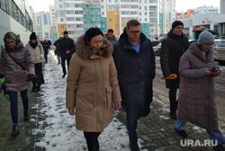 Губернатор Алексей Текслер и мэр Наталья Котова проверяют уборку снега. Челябинск