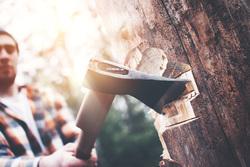 Клипарт depositphotos.com , топор, рубит дерево, древесина, вырубка леса, топор в руке, человек с топором, вырубка деревьев