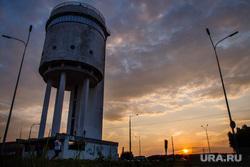 Первая экскурсия на Белую Башню после консервации. Екатеринбург, закат, белая башня