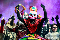 Праздник мертвых в Гостином дворе. Москва, карнавал, мексиканский праздник мертвых, dia de muertos, праздник