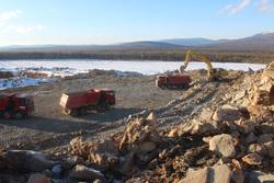 Саумское месторождение - карьер под перевалом Дятлова. Подготовка к разработке