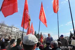 Возложение цветов к вечному огню. Челябинск, кпрф, егоров игорь, красные флаги