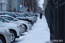 Виды города. Курган, машины, автомобиль, парковка