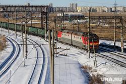 Галкинский мост. Курган, поезд, зима, вагоны, жд, прицел, пути сообщения, ржд, жд пути