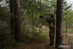 Полевые учения представителей добровольческих поисково-спасательных отрядов. Сургут, лес, ориентирование