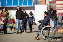 Молодёжная акция «Звезда Победы» с участием Губернатора Югры Натальи Комаровой и вело и мотопробег. Сургут, инвалид колясочник, инвалид в коляске, попрошайка
