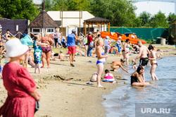«Путинский» пляж на озере Смолино. Челябинск, лето, жара, отдых на воде, пляж, озеро смолино